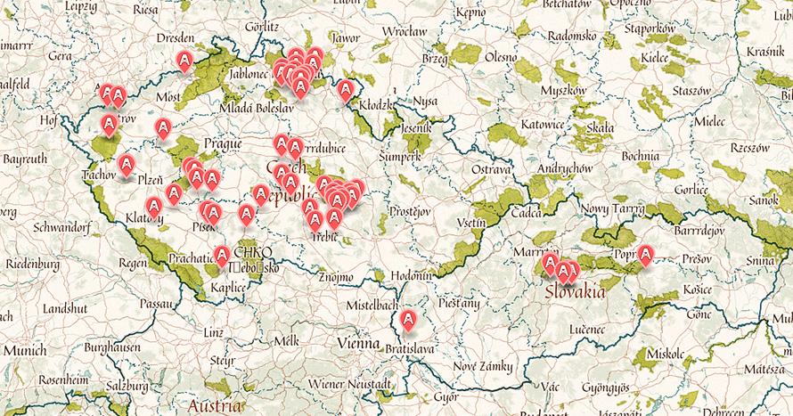 mapa-lokality-cechy-morava-slovensko-2016